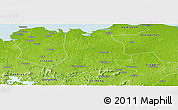 Physical Panoramic Map of Chengmai