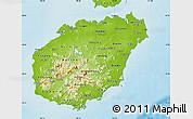 Physical Map of Hainan