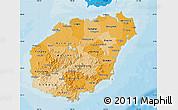 Political Shades Map of Hainan