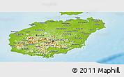 Physical Panoramic Map of Hainan
