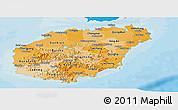 Political Shades Panoramic Map of Hainan