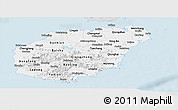 Silver Style Panoramic Map of Hainan