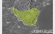 Satellite Map of Changli, desaturated
