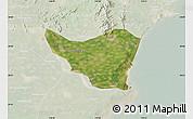 Satellite Map of Changli, lighten