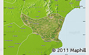 Satellite Map of Changli, physical outside