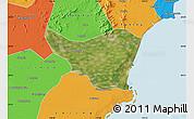 Satellite Map of Changli, political outside