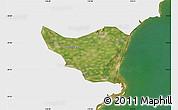 Satellite Map of Changli, single color outside