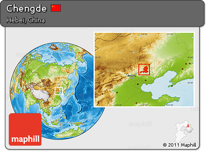 Free Physical Location Map Of Chengde - Chengde map
