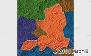 Political Map of Chengde, darken