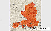 Political Map of Chengde, shaded relief outside