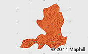 Political Map of Chengde, single color outside