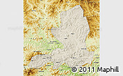 Shaded Relief Map of Chengde, physical outside