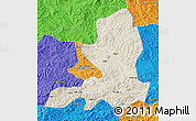 Shaded Relief Map of Chengde, political outside