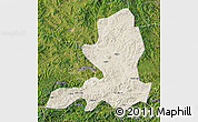 Shaded Relief Map of Chengde, satellite outside