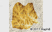 Physical Map of Chicheng, shaded relief outside