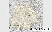 Shaded Relief Map of Chicheng, desaturated