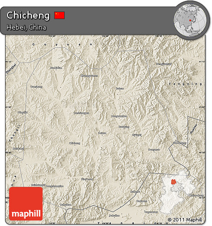 Shaded Relief Map of Chicheng