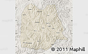 Shaded Relief Map of Chicheng, lighten
