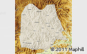 Shaded Relief Map of Chicheng, physical outside