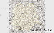 Shaded Relief Map of Chicheng, semi-desaturated