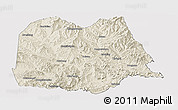 Shaded Relief Panoramic Map of Chicheng, cropped outside