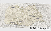 Shaded Relief Panoramic Map of Chicheng, lighten