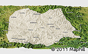 Shaded Relief Panoramic Map of Chicheng, satellite outside