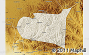 Shaded Relief Map of Chongli, physical outside