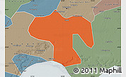 Political Map of Fengnan, semi-desaturated
