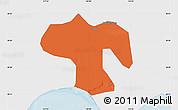 Political Map of Fengnan, single color outside