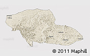 Shaded Relief Panoramic Map of Fengning, cropped outside