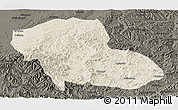 Shaded Relief Panoramic Map of Fengning, darken