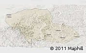 Shaded Relief Panoramic Map of Fengning, lighten