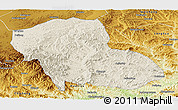 Shaded Relief Panoramic Map of Fengning, physical outside
