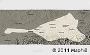 Shaded Relief Panoramic Map of Guyuan, darken