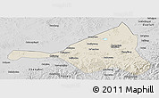 Shaded Relief Panoramic Map of Guyuan, desaturated