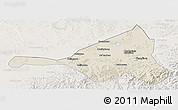 Shaded Relief Panoramic Map of Guyuan, lighten