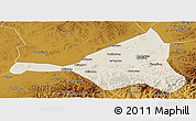 Shaded Relief Panoramic Map of Guyuan, physical outside