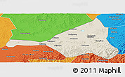Shaded Relief Panoramic Map of Guyuan, political outside