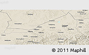 Shaded Relief Panoramic Map of Guyuan