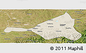 Shaded Relief Panoramic Map of Guyuan, satellite outside