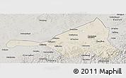 Shaded Relief Panoramic Map of Guyuan, semi-desaturated