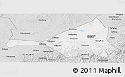 Silver Style Panoramic Map of Guyuan