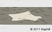 Shaded Relief Panoramic Map of Hejian, darken
