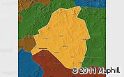 Political Map of Kangbao, darken