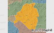 Political Map of Kangbao, semi-desaturated