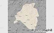 Shaded Relief Map of Kangbao, darken, desaturated