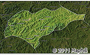 Satellite Map of Kuancheng, darken