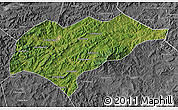 Satellite Map of Kuancheng, desaturated
