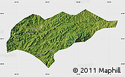 Satellite Map of Kuancheng, single color outside